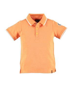 polo oranje/wit