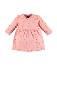 Babyface fleece jersey jurk met all over print en plooien roze, Roze