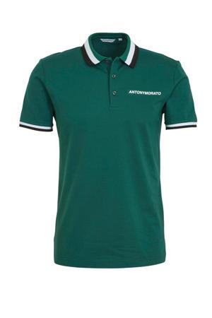 regular fit polo groen/wit/zwart