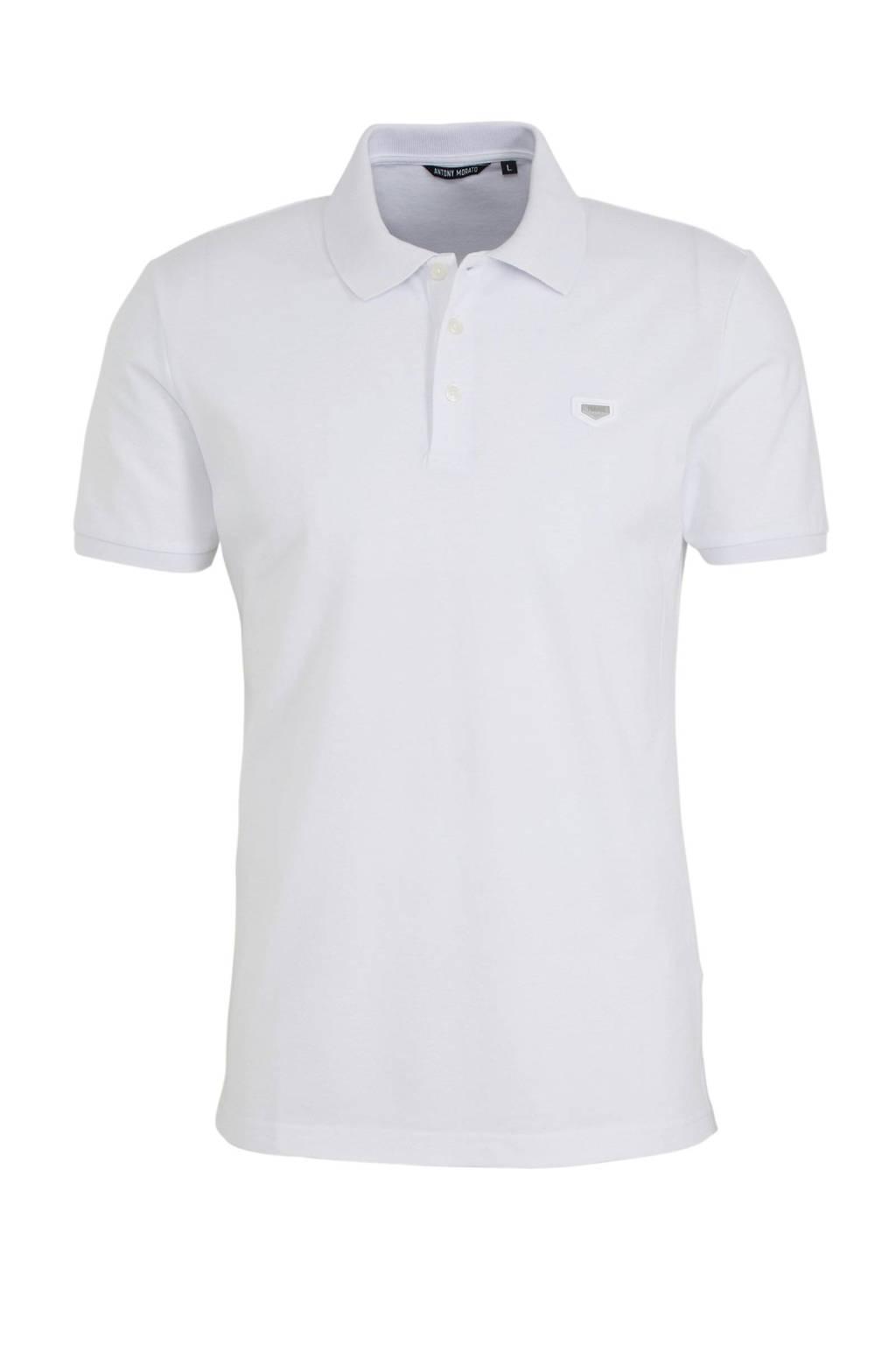 Antony Morato slim fit polo met logo wit, Wit