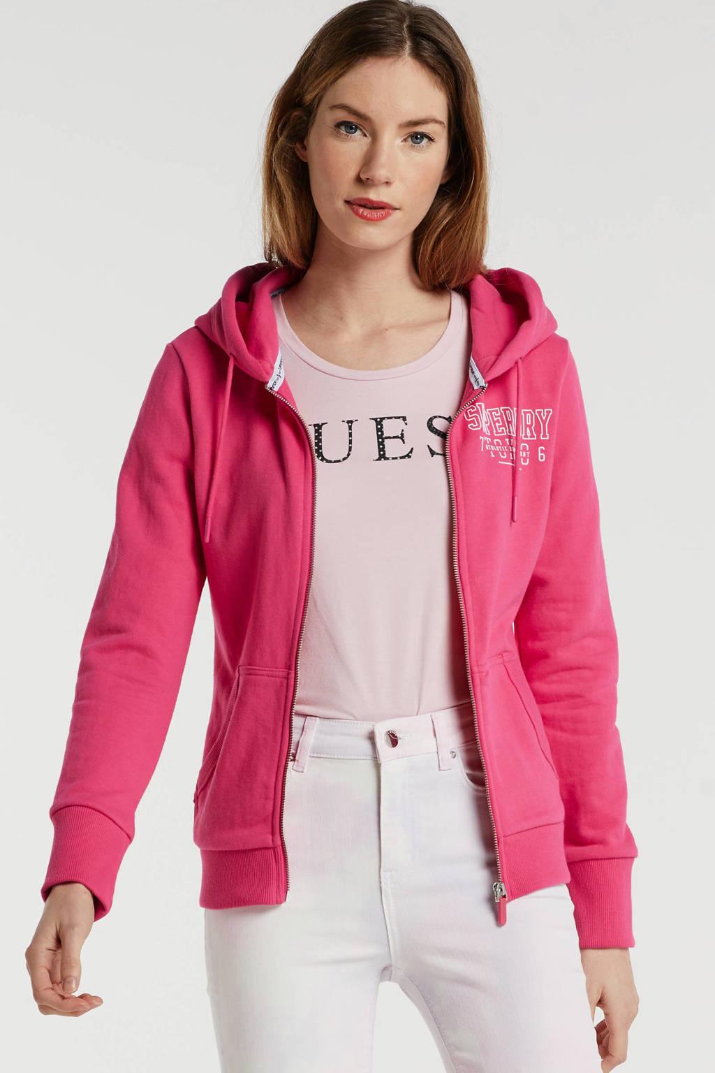 Superdry vest met tekst roze, Roze