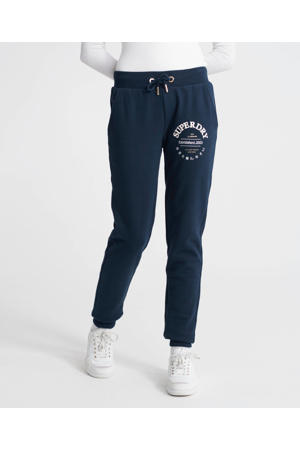 tapered fit joggingbroek met logo donkerblauw