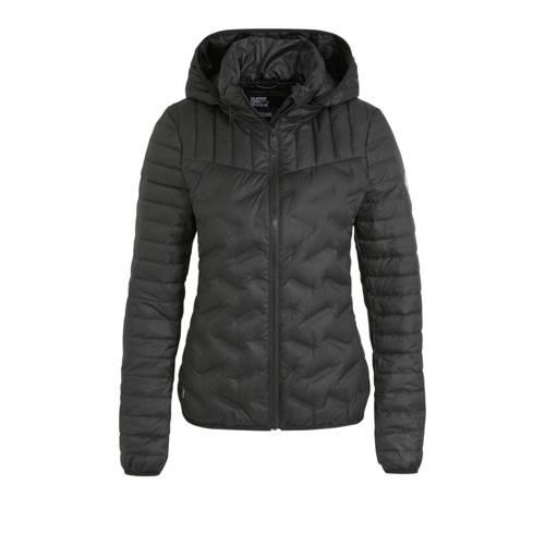 Superdry gewatteerde jas zwart