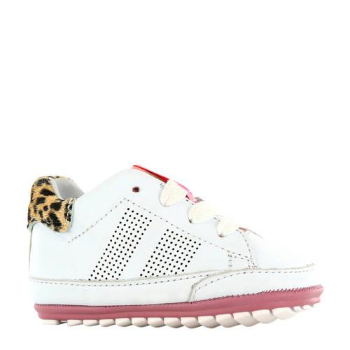 Shoesme BP20S019-B leren sneakers wit/panterprint
