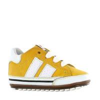 Shoesme BP20S024-D  leren sneakers geel/wit, Geel/wit