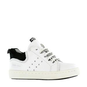 UR20S017-I  leren sneakers wit/zwart