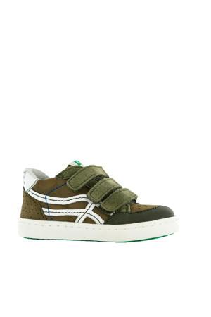 UR20S016-A  leren sneakers groen