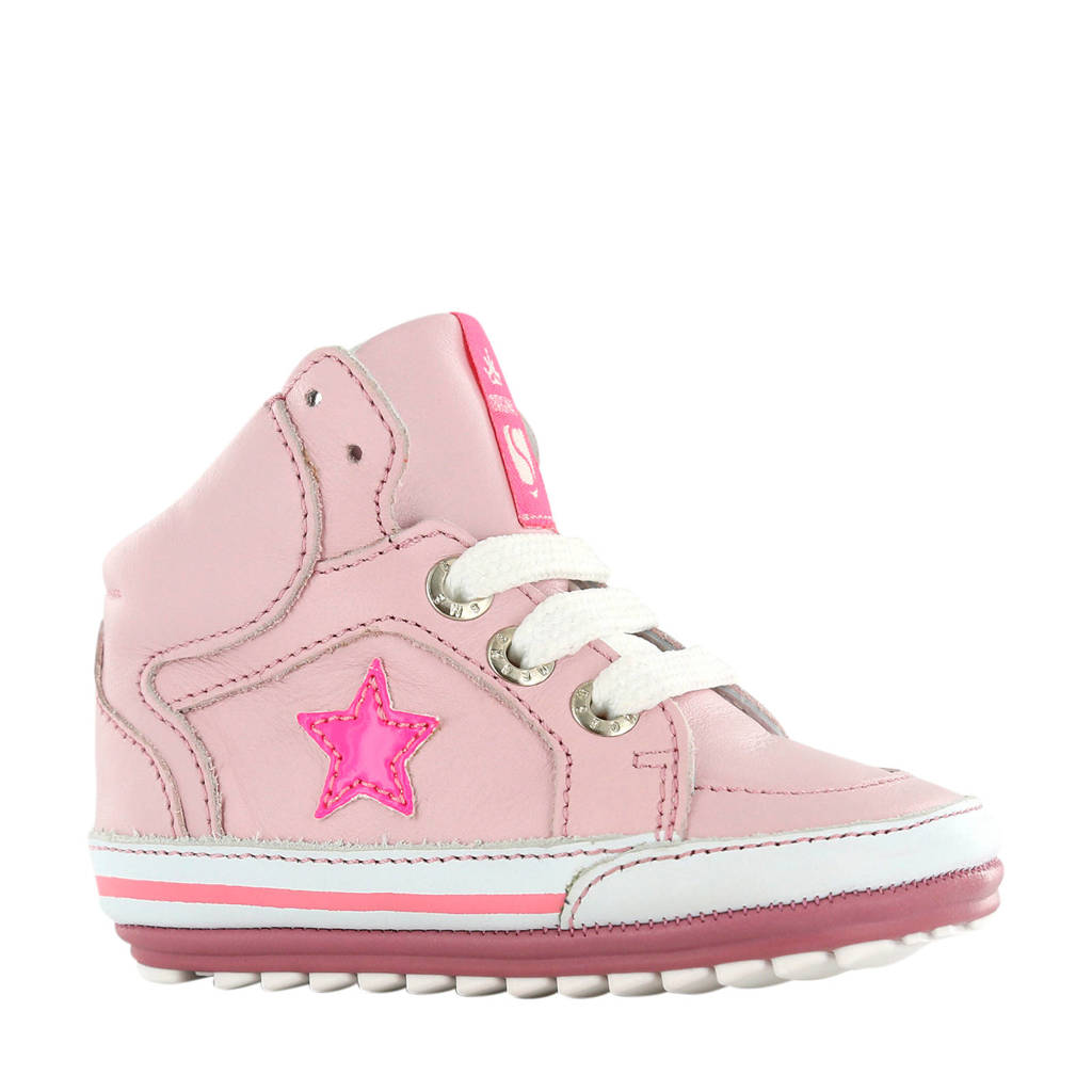 Shoesme BP20S026-B  leren sneakers roze, Roze