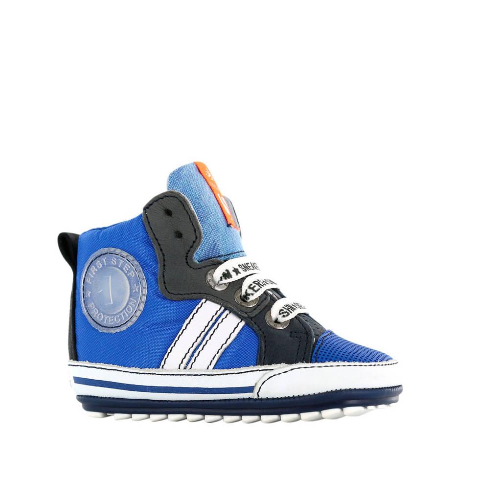 Shoesme BP20S006-B  leren sneakers blauw, Blauw