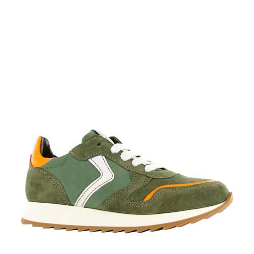 Shoesme LA20S201-E leren sneakers groen