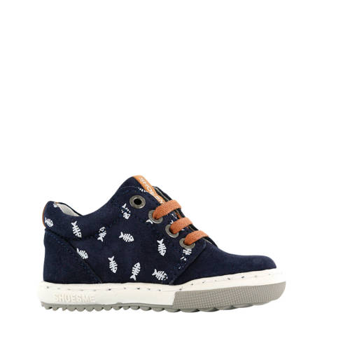 Shoesme EF20S003-E su??de sneakers blauw