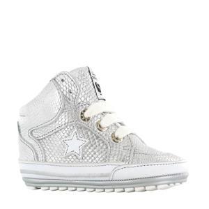 BP20S026-D  leren sneakers zilver