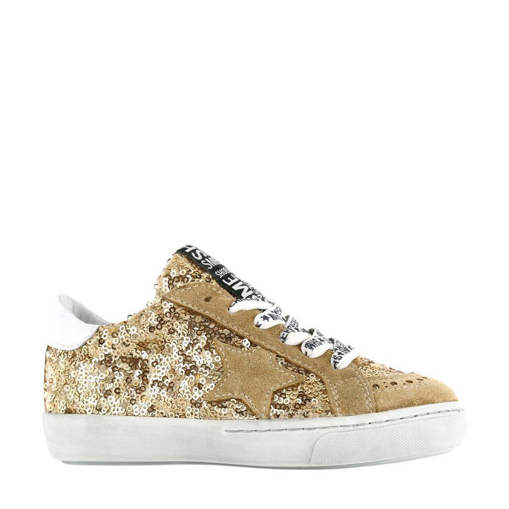 Shoesme VU20S020-B  leren sneakers goud, goud/wit