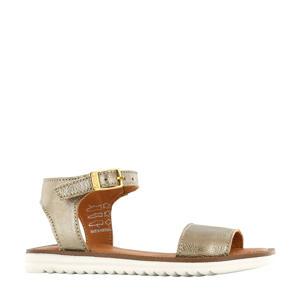 MA20S025-C  leren sandalen goud