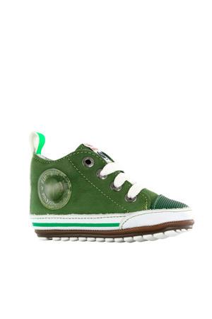 BP20S004-B  leren sneakers groen