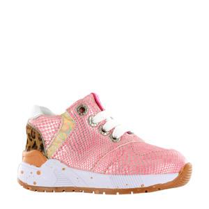 ST20S001-B  leren sneakers roze