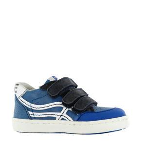 UR20S016-B  leren sneakers blauw