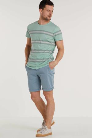 gestreept T-shirt mintgroen