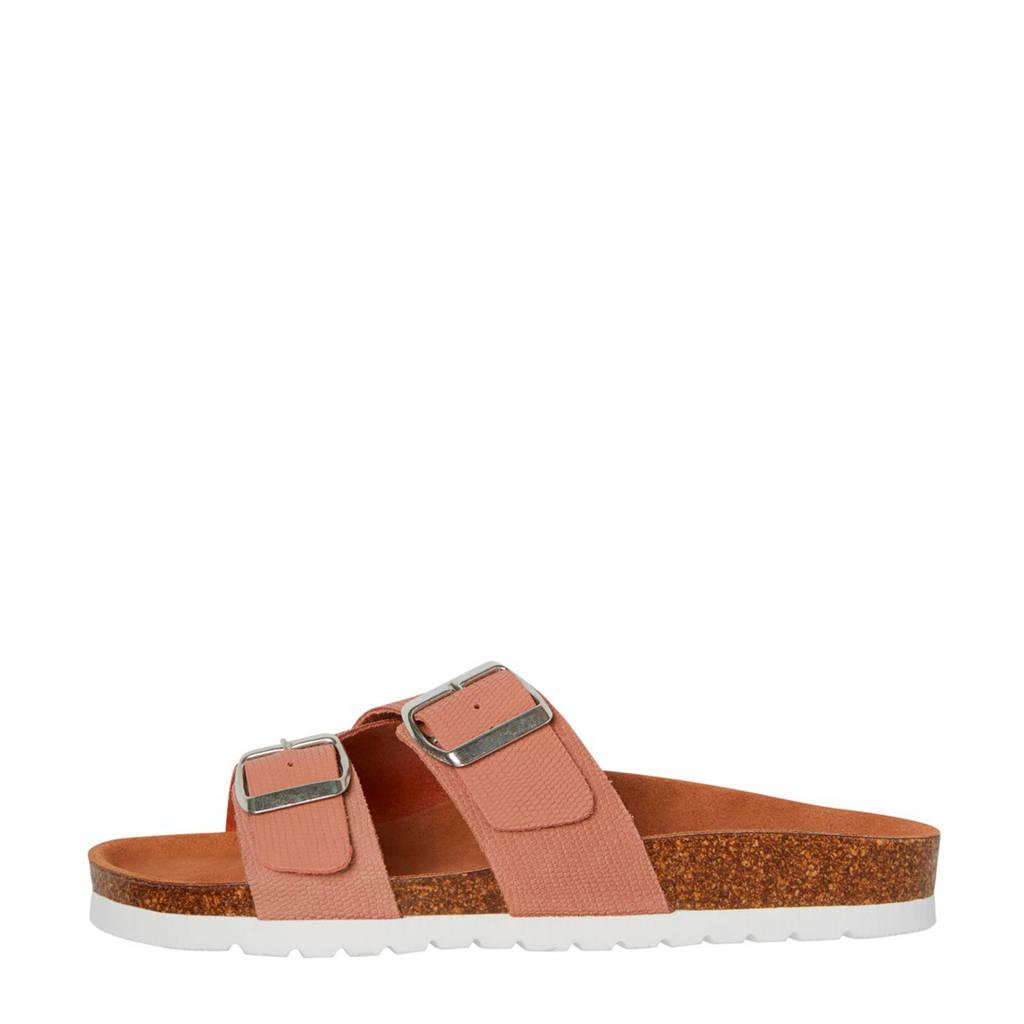 VERO MODA   leren slippers roze, Roze