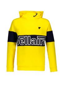 Bellaire hoodie KuncB met printopdruk geel/zwart, Geel/zwart