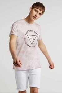 Redefined Rebel T-shirt met all over print ecru, Ecru