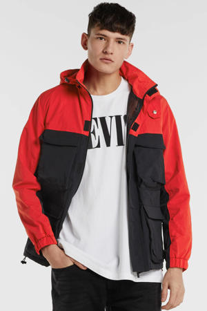 zomerjas zwart/rood