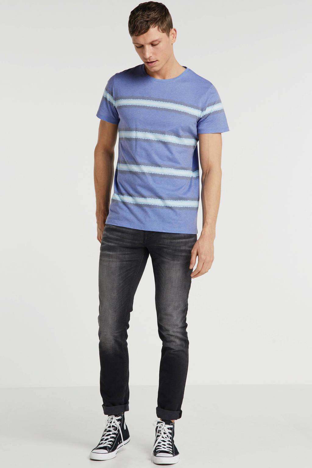 Redefined Rebel gestreept T-shirt blauw, Blauw
