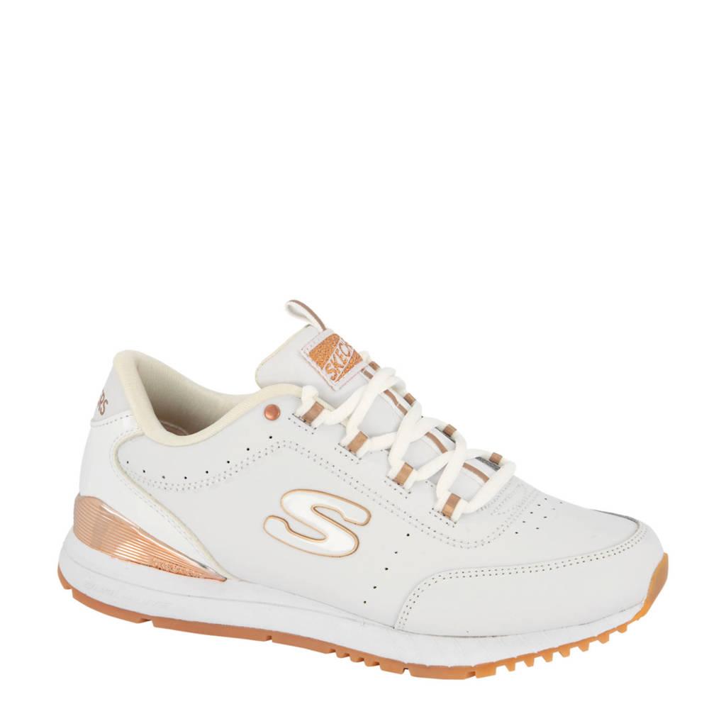 Skechers   leren sneakers wit/goud, Wit/goud