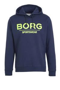 Björn Borg   sportsweater donkerblauw/limegroen, Donkerblauw/limegroen