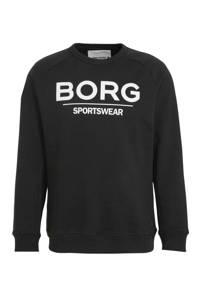 Björn Borg   sweater zwart, Zwart/wit