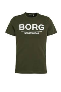Björn Borg   sport T-shirt donkerblauw, Kaki
