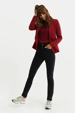 blazer deep red