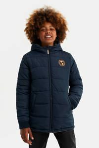 WE Fashion reversible winterjas kaki/donkerblauw, Kaki/donkerblauw