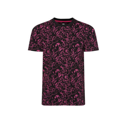WE Fashion T-shirt met all over print pink neo
