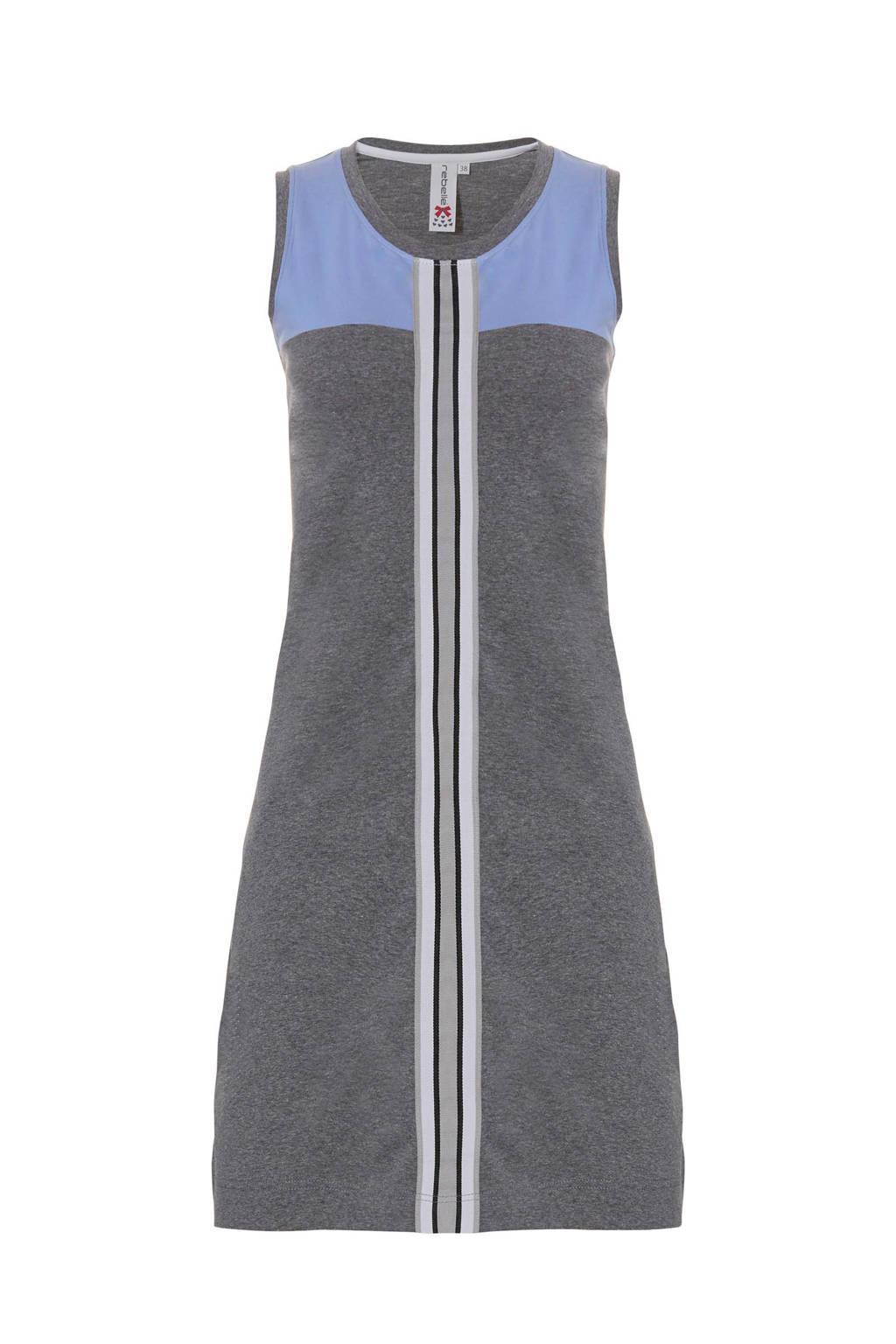 Rebelle nachthemd grijs, Grijs/blauw