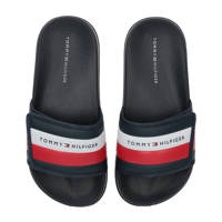 Tommy Hilfiger   badslippers donkerblauw, Donkerblauw/wit/rood