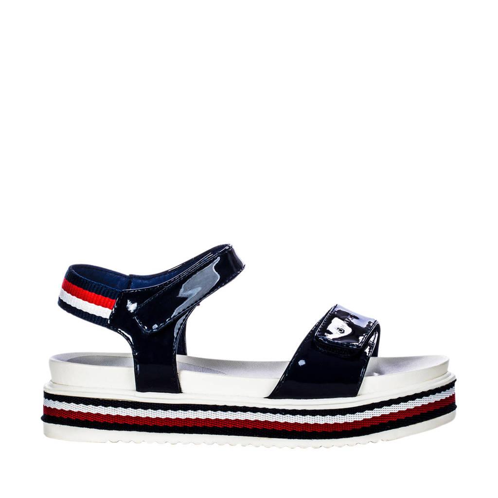 Tommy Hilfiger   sandalen lak blauw, Blauw/multi