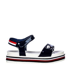 sandalen lak blauw
