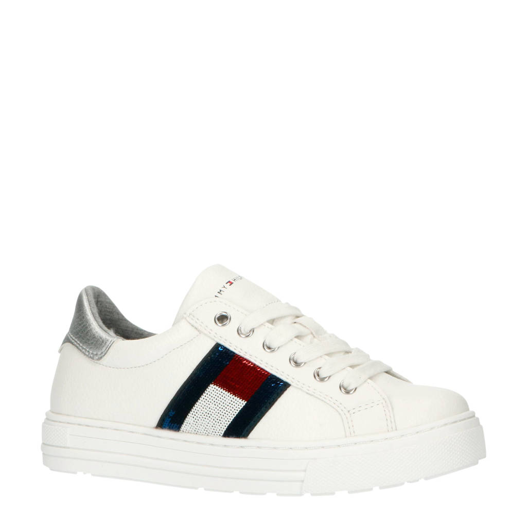 Tommy Hilfiger   sneakers wit, Wit/rood/blauw