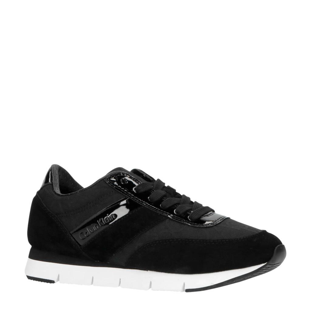 CALVIN KLEIN JEANS Tea  suède sneakers zwart, Zwart