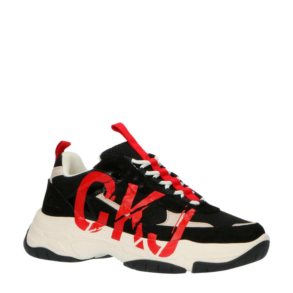 CALVIN KLEIN JEANS Mizar  chunky sneakers zwart/rood, Zwart/rood