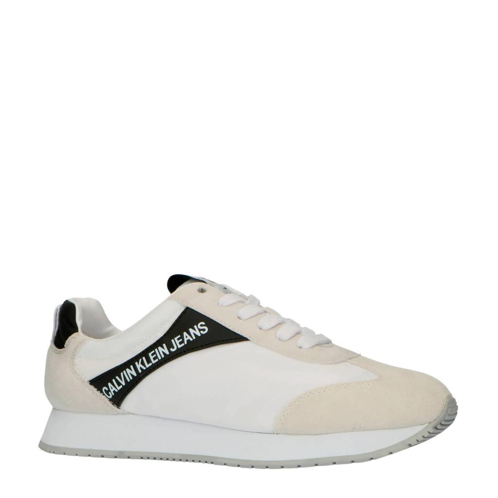 CALVIN KLEIN JEANS Jerrold  sneakers wit/beige, Wit/beige/zwart