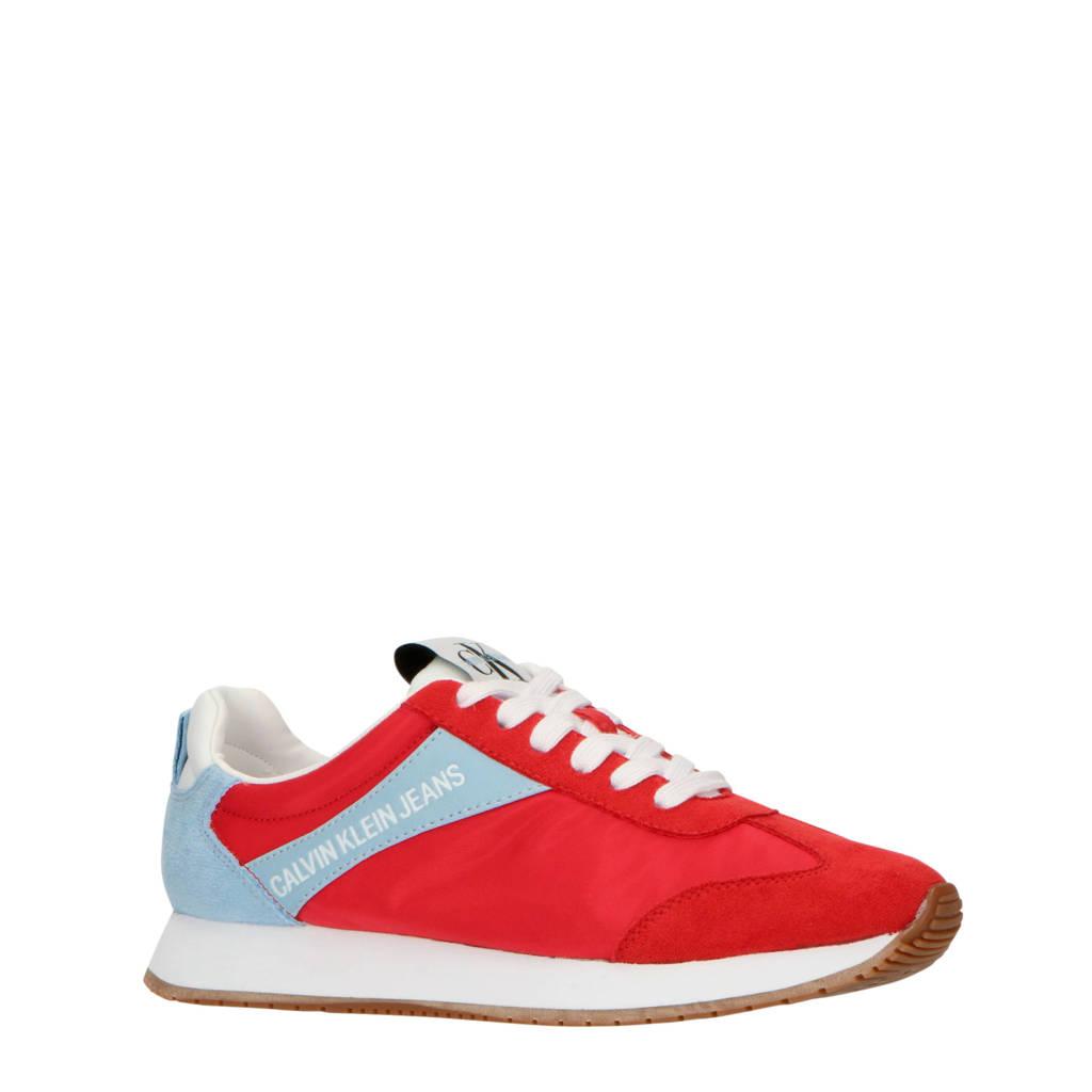 CALVIN KLEIN JEANS Jill  sneakers rood/lichtblauw, Rood/lichtblauw