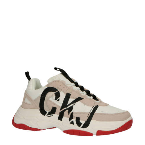 CALVIN KLEIN JEANS Marleen chunky sneakers wit/bei