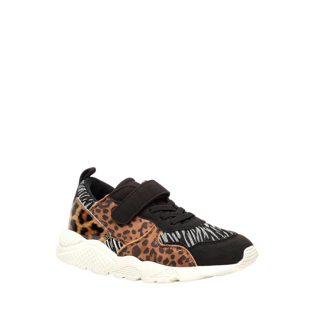 Scapino Blue Box   sneakers panterprint, Bruin/zwart