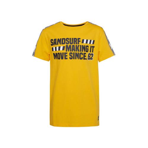 WE Fashion regular fit T-shirt met contrastbies en