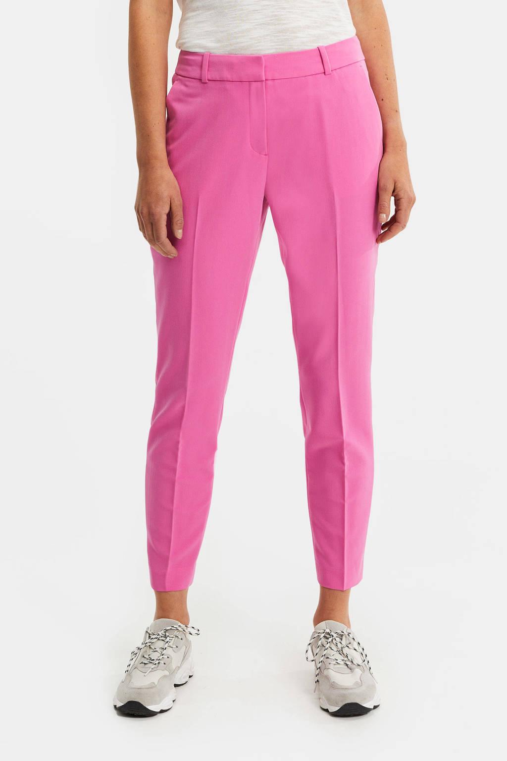 WE Fashion slim fit pantalon roze, Roze