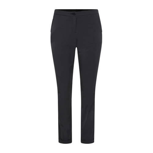 WE Fashion tapered fit pantalon zwart