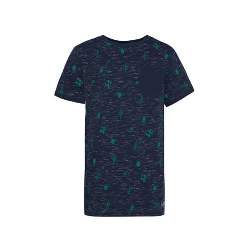 WE Fashion regular fit T-shirt met biologisch kato