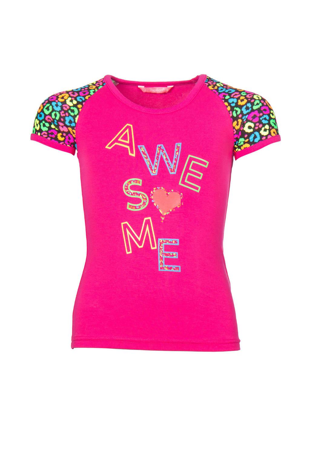 Papillon sport T-shirt roze/multi, Roze/multi